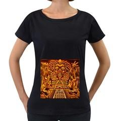 Alien Dj Women s Loose Fit T Shirt (black)