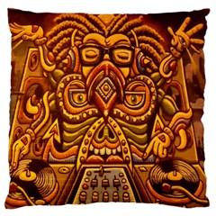 Alien Dj Standard Flano Cushion Case (One Side)