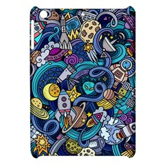 Cartoon Hand Drawn Doodles On The Subject Of Space Style Theme Seamless Pattern Vector Background Apple iPad Mini Hardshell Case