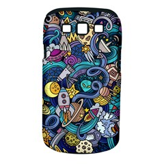 Cartoon Hand Drawn Doodles On The Subject Of Space Style Theme Seamless Pattern Vector Background Samsung Galaxy S III Classic Hardshell Case (PC+Silicone)