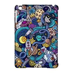 Cartoon Hand Drawn Doodles On The Subject Of Space Style Theme Seamless Pattern Vector Background Apple iPad Mini Hardshell Case (Compatible with Smart Cover)