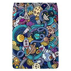 Cartoon Hand Drawn Doodles On The Subject Of Space Style Theme Seamless Pattern Vector Background Flap Covers (s)