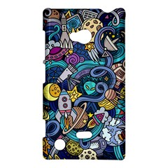 Cartoon Hand Drawn Doodles On The Subject Of Space Style Theme Seamless Pattern Vector Background Nokia Lumia 720