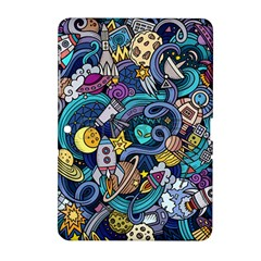 Cartoon Hand Drawn Doodles On The Subject Of Space Style Theme Seamless Pattern Vector Background Samsung Galaxy Tab 2 (10.1 ) P5100 Hardshell Case