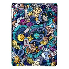 Cartoon Hand Drawn Doodles On The Subject Of Space Style Theme Seamless Pattern Vector Background Ipad Air Hardshell Cases
