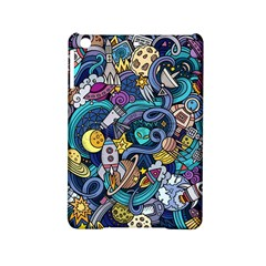 Cartoon Hand Drawn Doodles On The Subject Of Space Style Theme Seamless Pattern Vector Background Ipad Mini 2 Hardshell Cases