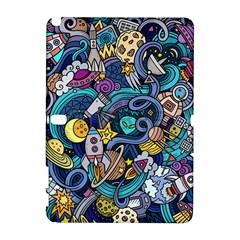 Cartoon Hand Drawn Doodles On The Subject Of Space Style Theme Seamless Pattern Vector Background Galaxy Note 1