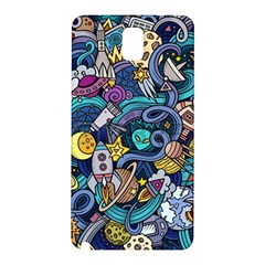 Cartoon Hand Drawn Doodles On The Subject Of Space Style Theme Seamless Pattern Vector Background Samsung Galaxy Note 3 N9005 Hardshell Back Case