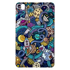 Cartoon Hand Drawn Doodles On The Subject Of Space Style Theme Seamless Pattern Vector Background Samsung Galaxy Tab Pro 8.4 Hardshell Case