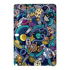 Cartoon Hand Drawn Doodles On The Subject Of Space Style Theme Seamless Pattern Vector Background Samsung Galaxy Tab Pro 12.2 Hardshell Case