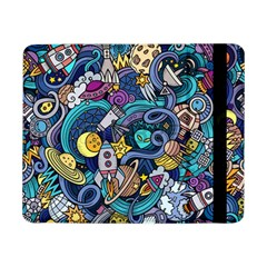Cartoon Hand Drawn Doodles On The Subject Of Space Style Theme Seamless Pattern Vector Background Samsung Galaxy Tab Pro 8.4  Flip Case