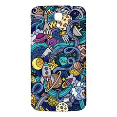 Cartoon Hand Drawn Doodles On The Subject Of Space Style Theme Seamless Pattern Vector Background Samsung Galaxy Mega I9200 Hardshell Back Case