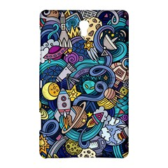 Cartoon Hand Drawn Doodles On The Subject Of Space Style Theme Seamless Pattern Vector Background Samsung Galaxy Tab S (8 4 ) Hardshell Case