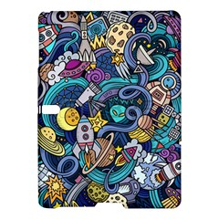 Cartoon Hand Drawn Doodles On The Subject Of Space Style Theme Seamless Pattern Vector Background Samsung Galaxy Tab S (10 5 ) Hardshell Case