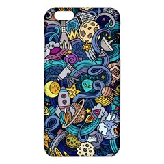 Cartoon Hand Drawn Doodles On The Subject Of Space Style Theme Seamless Pattern Vector Background Iphone 6 Plus/6s Plus Tpu Case