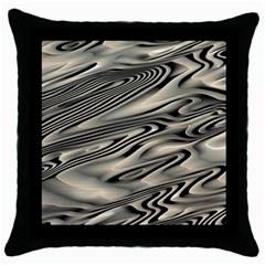 Alien Planet Surface Throw Pillow Case (Black)