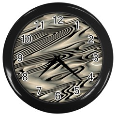 Alien Planet Surface Wall Clocks (black)