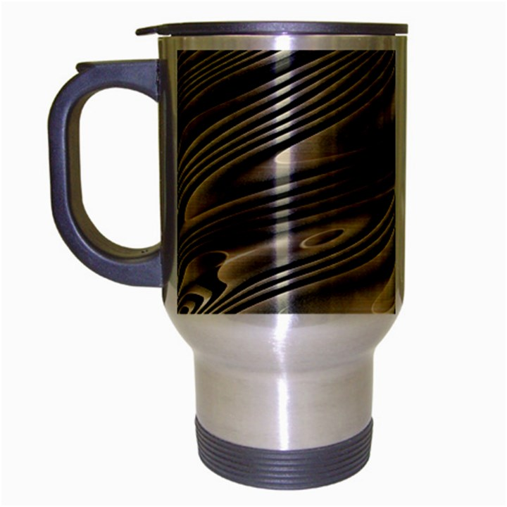 Alien Planet Surface Travel Mug (Silver Gray)