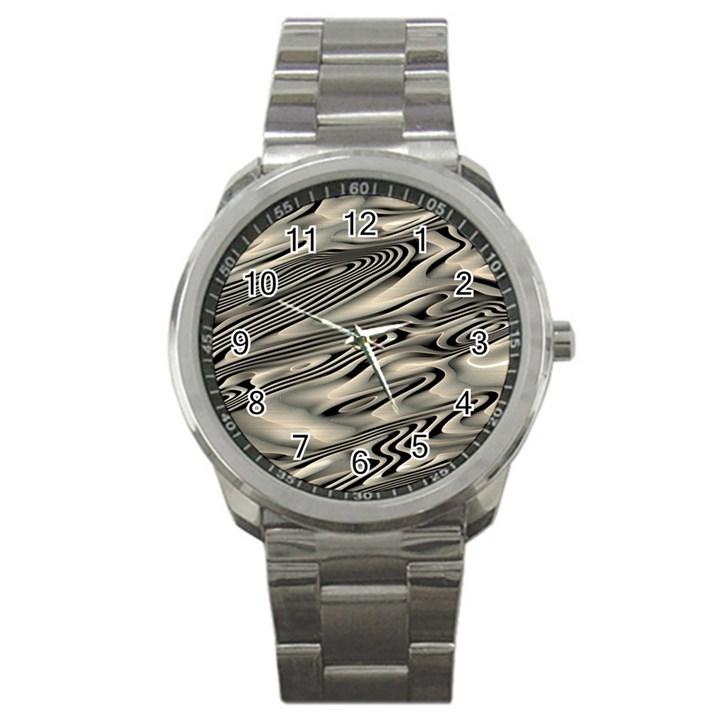 Alien Planet Surface Sport Metal Watch
