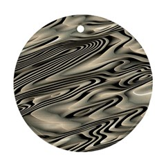 Alien Planet Surface Round Ornament (two Sides)