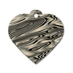 Alien Planet Surface Dog Tag Heart (Two Sides)