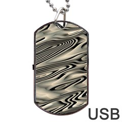 Alien Planet Surface Dog Tag USB Flash (Two Sides)