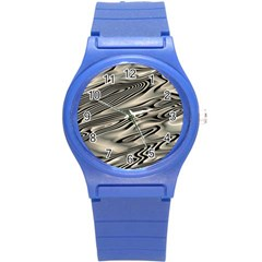 Alien Planet Surface Round Plastic Sport Watch (S)