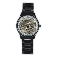 Alien Planet Surface Stainless Steel Round Watch