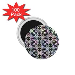 Peace Pattern 1 75  Magnets (100 Pack)