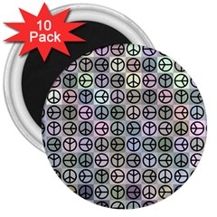 Peace Pattern 3  Magnets (10 pack)