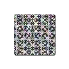 Peace Pattern Square Magnet