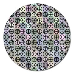 Peace Pattern Magnet 5  (round)