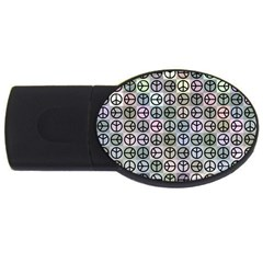 Peace Pattern USB Flash Drive Oval (2 GB)