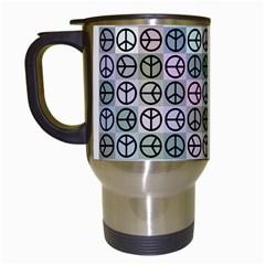 Peace Pattern Travel Mugs (White)
