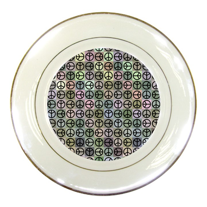 Peace Pattern Porcelain Plates