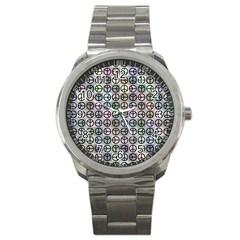 Peace Pattern Sport Metal Watch