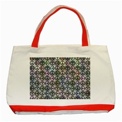 Peace Pattern Classic Tote Bag (red)