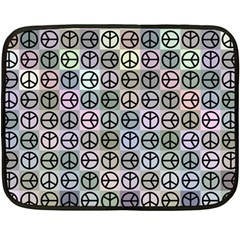 Peace Pattern Double Sided Fleece Blanket (mini)