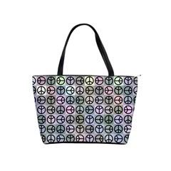 Peace Pattern Shoulder Handbags