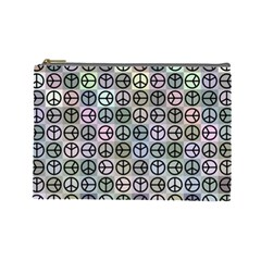 Peace Pattern Cosmetic Bag (Large)