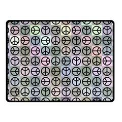 Peace Pattern Fleece Blanket (Small)