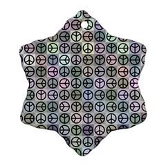 Peace Pattern Ornament (Snowflake)