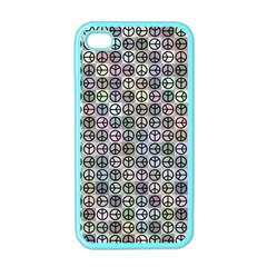 Peace Pattern Apple Iphone 4 Case (color)