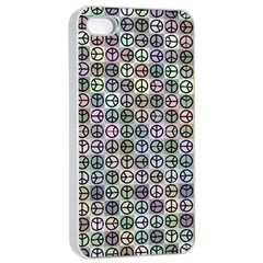 Peace Pattern Apple Iphone 4/4s Seamless Case (white)