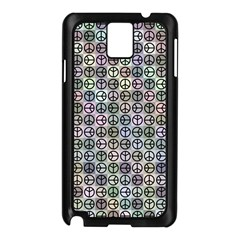 Peace Pattern Samsung Galaxy Note 3 N9005 Case (Black)