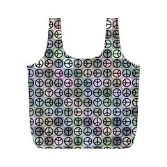 Peace Pattern Full Print Recycle Bags (M)