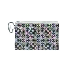 Peace Pattern Canvas Cosmetic Bag (S)