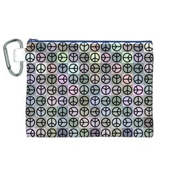 Peace Pattern Canvas Cosmetic Bag (XL)