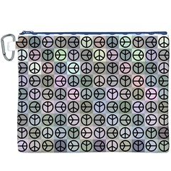 Peace Pattern Canvas Cosmetic Bag (xxxl)