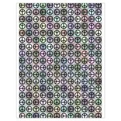 Peace Pattern Drawstring Bag (Large)